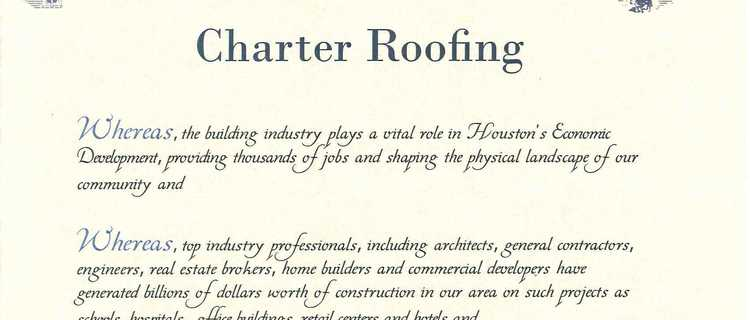 Charter Receives Mayoral Proclamation - Charter Roofing & Waterproofing