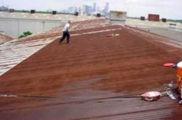 Metal Roof Restoration (before) - Charter Roofing & Waterproofing