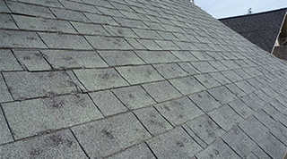 Hail Damage to Built up roofing - Charter Roofing & Waterproofing